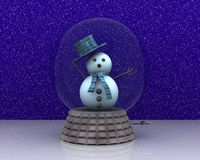 Carillon with cute Snowman greets Stock Photo