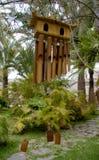 Carillon de vent en bambou Photographie stock libre de droits