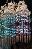 Carillon di vento della conchiglia Fotografie Stock