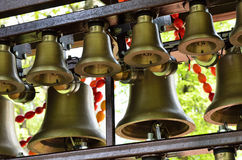 Carillon with Easter garlands Stock Photos