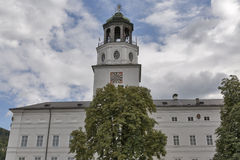 Carillon tower of New Residence in Salzburg royalty free stock photo