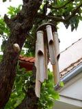 Carillones de viento de bambú Fotografía de archivo