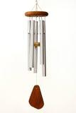 Carillones de viento en el fondo blanco Imagen de archivo libre de regalías