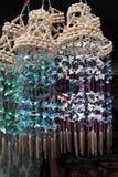 Carillons de vent de coquillage Photos stock