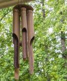 Carillons de vent en bambou Photo libre de droits