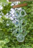 Carillons de vent en verre de mer Photos libres de droits