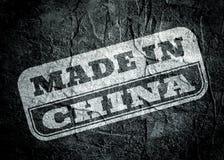Carimbe com feito no texto de China sobre o fundo do grunge ilustração royalty free