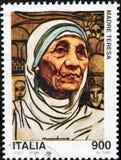 Carimbe com Mother Teresa imagem de stock