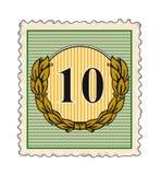 Carimbe com número 10 Imagem de Stock Royalty Free
