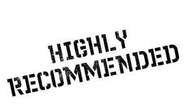 Carimbo de borracha altamente recomendado ilustração royalty free