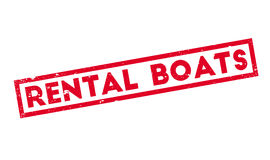 Carimbo de borracha alugado dos barcos Fotografia de Stock Royalty Free