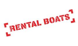 Carimbo de borracha alugado dos barcos Foto de Stock Royalty Free