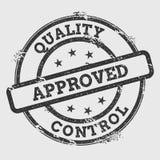 Carimbo de borracha aprovado qualidade do controle isolado sobre ilustração stock