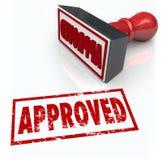 Carimbo de borracha aprovado resultado aceitado da aprovação Imagens de Stock Royalty Free