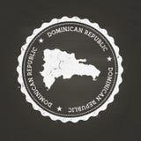 Carimbo de borracha branco da textura do giz com Dominican ilustração royalty free