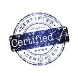 Carimbo de borracha certificado Fotografia de Stock