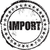 Carimbo de borracha com a importação do texto Foto de Stock Royalty Free