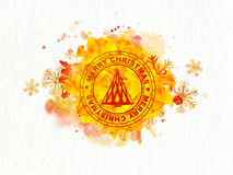 Carimbo de borracha criativo para o Feliz Natal Fotografia de Stock Royalty Free