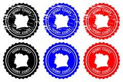 Carimbo de borracha da Costa do Marfim ilustração stock