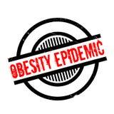 Carimbo de borracha da epidemia da obesidade ilustração royalty free
