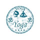 Carimbo de borracha da ioga Imagem de Stock