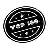 Carimbo de borracha da parte superior 100 Imagem de Stock Royalty Free
