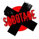 Carimbo de borracha da sabotagem Foto de Stock Royalty Free