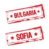 Carimbo de borracha de Bulgária Fotos de Stock
