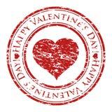 Carimbo de borracha de Grunge com coração e texto Fotos de Stock Royalty Free