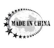 Carimbo de borracha de Grunge com a palavra feita em China Imagem de Stock