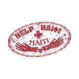 Carimbo de borracha de Haiti da ajuda Imagem de Stock Royalty Free