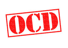 Carimbo de borracha de OCD Imagem de Stock