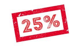 carimbo de borracha de 25 por cento Foto de Stock