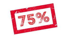 carimbo de borracha de 75 por cento Fotografia de Stock Royalty Free