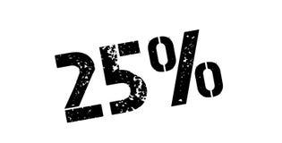 carimbo de borracha de 25 por cento Fotografia de Stock