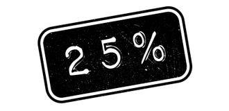 carimbo de borracha de 25 por cento Foto de Stock Royalty Free