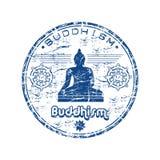 Carimbo de borracha do Buddhism Foto de Stock Royalty Free