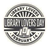 Carimbo de borracha do dia dos amantes da biblioteca ilustração royalty free