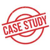 Carimbo de borracha do estudo de caso ilustração do vetor