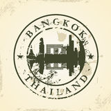 Carimbo de borracha do Grunge com Banguecoque, Tailândia Imagens de Stock
