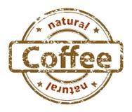 Carimbo de borracha do Grunge com café natural do texto, Foto de Stock Royalty Free