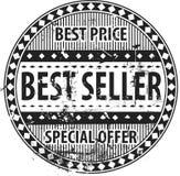 Grunge do carimbo de borracha do melhor vendedor Fotos de Stock
