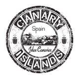 Carimbo de borracha do grunge das Ilhas Canárias Fotos de Stock