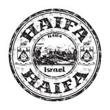 Carimbo de borracha do grunge de Haifa Fotos de Stock Royalty Free