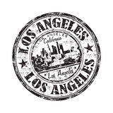 Carimbo de borracha do grunge de Los Angeles Foto de Stock