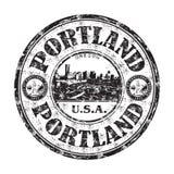 Carimbo de borracha do grunge de Portland ilustração stock
