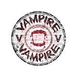 Carimbo de borracha do grunge do vampiro ilustração royalty free