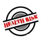 Carimbo de borracha do risco para a saúde ilustração stock