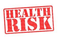 Carimbo de borracha do risco para a saúde fotografia de stock