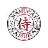 Carimbo de borracha do samurai Fotografia de Stock